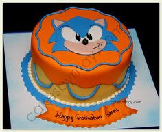 Custom wedding cakes, birthday cakes and cakes for all occasions Bolo Sonic, Sonic Cake, 6th Birthday Parties, Birthday Stuff, Birthday Cakes, Birthday Ideas, Video Game Cakes, Cheesecake Tarts, Cupcake Cookies