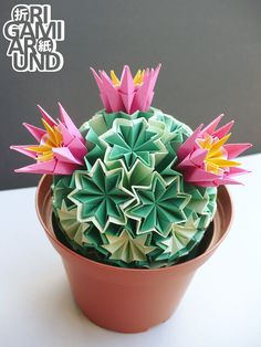 — Origami venus kusudama cactus work in progress., Origami Around — Origami venus kusudama cactus work in progress., Origami Around — Origami venus kusudama cactus work in progress. Origami Design, Diy Origami, Origami Gifts, Origami Templates, Origami And Quilling, Origami Rose, Origami Dragon, Origami Tutorial, Origami Paper