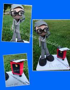 Fofucho con ropa de trabajo y su caja de herramientas  www.facebook.com/dondenacenmisuenos