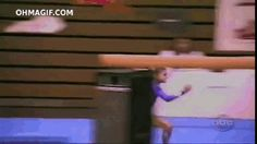 """Read Gymnastics Fail GIFs"""" and other Sports Lists articles from Total Pro Sports. Gymnastics Fails, Gymnastics Videos, Gymnastics Funny, Funny Me, Hilarious, Funny Stuff, Cheer Fails, Sports Fails, Gym Body"""