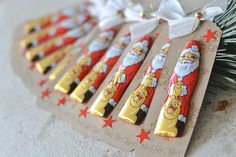 Stamped – Bettina and Maria: Santa Claus was there … – Christmas – … - Weihnachten Secret Santa Christmas Gifts, Funny Secret Santa Gifts, Homemade Christmas Gifts, Christmas Gift Wrapping, Christmas Paper, Christmas Crafts, Christmas Decorations, Secret Santa Gift Exchange, Christmas Activities