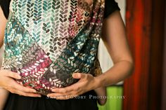 Woven Wings Stockinette Summer Rainbow Wrap 4