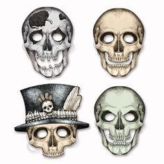 Skeleton Masks (12 Packs)