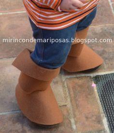 mi rincón de mariposas: Disfraces: botas de fieltro PIRATAS!