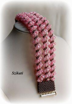 Kostenloser Versand mit Pink/grau-Seed Bead Anweisung von Szikati