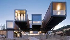 Plans To Design And Build A Container Home - 20 Cool As Hell Shipping Container Homes - Caterpillar House. Who Else Wants Simple Step-By-Step Plans To Design And Build A Container Home From Scratch? Container Architecture, Container Home Designs, Shipping Container Buildings, Shipping Container Homes, Shipping Containers, Building A Container Home, Container House Plans, Cantilever Architecture, Architecture Design