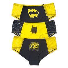 Colorful Batman Graffiti Panties Set