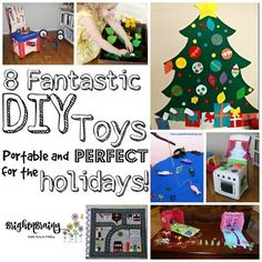8 Fantastic DIY Toys – Portable and Perfect For the Holidays! Diy Toys, Child Development, Family Travel, Activities For Kids, Articles, Entertaining, Posts, Children, Holiday
