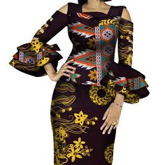 African Print Ruffles Sleeve Tops and Skirt Sets Knee-length clothing – DRESS THE LADIES Couples African Outfits, African Dresses For Women, African Attire, 2 Piece Skirt Set, Style Africain, Dress Outfits, Fashion Outfits, African Fabric, Ruffle Sleeve