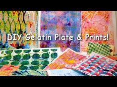 how to make a gelatin plate and prints - YouTube