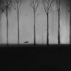 Esta artista es capaz de crear sueños en blanco y negro con acuarelas