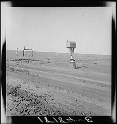 Dust Bowl Texas by Dorothea Lange.