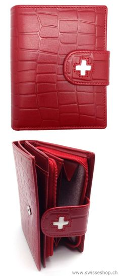 Portemonnaie Leder Kroko Prägun / Purse leather crocodile Prägun This Protemonnaie looks very nice . The quality is projecting and all credit cards have a specialist.