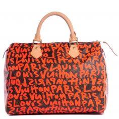 47efdda22224c LOUIS VUITTON Monogram Stephen Sprouse Graffiti Speedy 30 Orange Used Louis  Vuitton