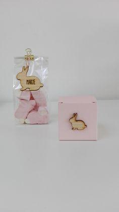 Naamlabel konijn + mini decoratie konijn