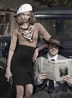 Bonnie and Clyde Fashion... vintage is coming back... (BTW Dior line is very much 50s inspired)