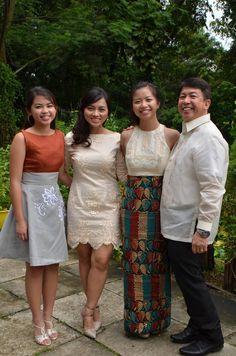 Modern Filipiniana Dress, Filipino Fashion, Philippines Culture, Filipina Beauty, Formal Wear, Designer Dresses, Dress Up, Bridesmaid Dresses, Long Gowns