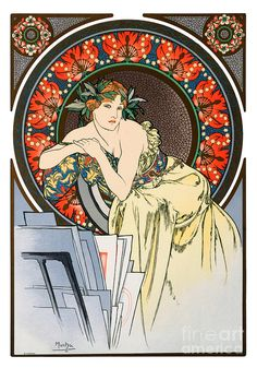Words can barely express my appreciation for the work of Alphonse Mucha and Art Nouveau sensibilities. Art Nouveau, Vintage Posters, Vintage Art, Vintage World Maps, Canvas Art Prints, Painting Prints, Alphonse Mucha Art, Jugendstil Design, Kunst Poster