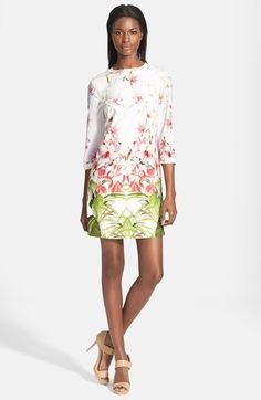 Ted Baker London 'Mirrored Tropics' Print Tunic Dress