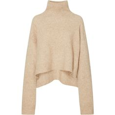 Lyn Oversized Sweater  | Moda Operandi ($610) ❤ liked on Polyvore featuring tops, sweaters, over sized sweaters, cashmere turtleneck sweater, turtleneck sweater, polo neck sweater and relaxed fit tops
