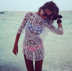 classy (and probably WAY expensive!) beach coverup
