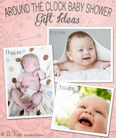 Around the Clock Baby Shower - Gift Ideas for the New Parents for Every Hour