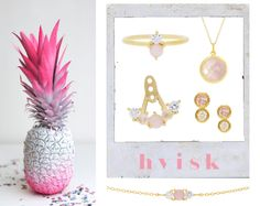 Styling by wonderwandel showing Lush Double Pink Ring Gold, Lush Pink Quintet Ear Jacket Gold, Lush Pink Trio Bracelet Gold , Bubble Facet Pendant Pink Gold and Delight Diamond and Pink Sapphire Ear Studs Small 14K Gold #jewellery #Jewelry #bangles #amulet #dogtag #medallion #choker #charms #Pendant #Earring #EarringBackPeace #EarJacket #EarSticks #Necklace #Earcuff #Bracelet #Minimal #minimalistic #ContemporaryJewellery #zirkonia #Gemstone #JewelleryStone #JewelleryDesign #CreativeJewellery…