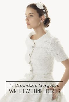 13 Drop-Dead Gorgeous Winter Wedding Dresses