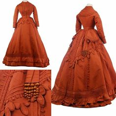 Detailed autumn loveliness. Worth day dress, 1867-70 from the Museo de la Moda.