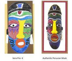 Celebrating Hispanic Heritage Month- creating Peruvian masks ~spanishsimply.com