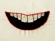 Braces via Emma Ruth Hughes Embroidery