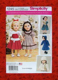 Simplicity Sewing Pattern 1245 18 Size Girl by AlicesSewingCorner