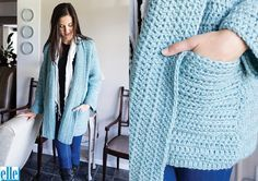 Oversized Jacket (7627) - free crochet pattern by Brenda Grobler at Elle yarns