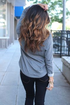 Love her hair style & the color!