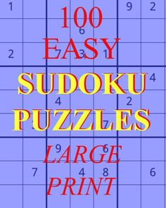 100 Easy Sudoku Puzzles,Large Print,Sudoku Printable,Brain Teaser for Adult or Senior Looking for Mi Printable Brain Teasers, Funny Brain Teasers, Brain Teasers For Adults, Brain Teasers Riddles, Brain Teaser Games, Brain Teaser Puzzles, Brain Games, Mind Puzzles, Sudoku Puzzles