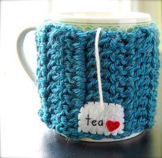 Personalized Tea Mug Cozy - @jan issues Fehlis fitzgerald These were what I wanted you to see. I found many cute for these but I think it is crochet