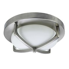 Buy the HomeSelects International 6164 Brushed Nickel Direct. Shop for the HomeSelects International 6164 Brushed Nickel Industrial Chic 2 Light Wide Flush Mount Bowl Ceiling Fixture and save. Flush Mount Lighting, Flush Mount Ceiling, Copper Lighting, Industrial Lighting, Nickel Finish, Brushed Nickel, Ceiling Light Fixtures, Ceiling Lights, Lighting Solutions