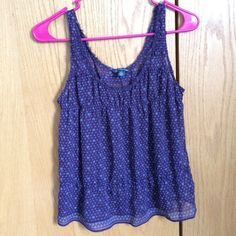 Floral purple top Flowy top with printed hearts from American eagle American Eagle Outfitters Tops Blouses