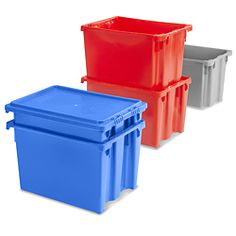 Stack And Nest Container in Stock - ULINE: Small $11 ea