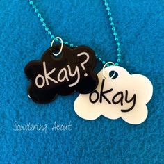 Sowdering About: The Fault in our Stars best friend necklaces made with Mod Podge Dimensions- could use shrink plastic