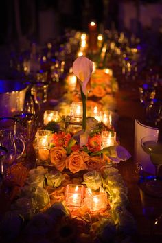 Orange is probably the first color you think of when you think of October. So why not do a big event in that color. Take a look at these magnificent examples of big orange events! Image: Preston Bailey Image: Flexx Productions Image: Make My Day Image:. Fall Wedding, Dream Wedding, Wedding Ideas, Orange Wedding, Wedding Story, Candle Centerpieces, Centerpiece Ideas, Wedding Centerpieces, Candles