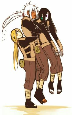 Naruto🍥: The Three Legendary Sanin Anime Naruto, Naruto Comic, Naruto Uzumaki, Jiraiya And Tsunade, Manga Anime, Naruto Fan Art, Naruto Cute, Fanarts Anime, Itachi
