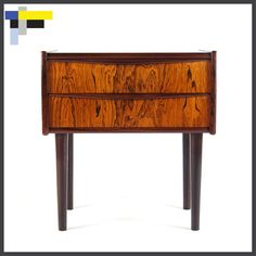 Retro Danish Rosewood Chest of Drawers Bedside Table 1950s 60s 70s Mid Century | eBay