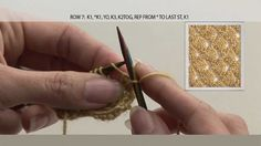 "From the DVD, available at http://www.TheArtOfKnitting.com and the video enhanced eBook ""Knitting Video Stitch-Alongs Vol.1"" available at http://itunes.apple..."