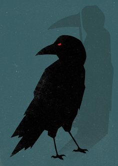 Brain Pickings - Part 5 (Unusual Words Rendered in Bold Graphics): Osteniferous - bringing omens or unnatural or supernatural manifestations. (Look at the shadow cast by the raven.)