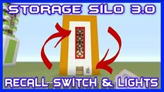 Up/Down Storage Silo v3.0 w/Recall Switch & Indicator Lights Tutorial https://youtu.be/jww-DJUUW74 #Minecraft #Tutorial