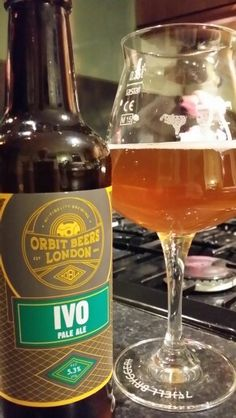 Orbit Beers London IVO Pale Ale. Watch the video Beer review here www.youtube.com/realaleguide #CraftBeer #RealAle #Ale #Beer #BeerPorn #OrbitBeersLondon #OrbitBeers #IVOPaleAle #OrbitBeersIVO