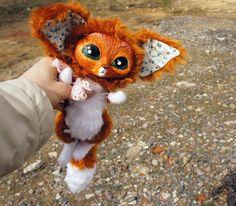 Смешная рыжая лиса фенек. Милая яркая игрушка лиса. от WerdigaToys