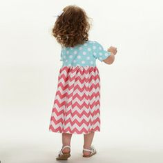 Swoon! Love this Aqua Dot Pink Chevron Dress I discovered at lollywollydoodle.com and for only $32! Click the image above and receive $5 off on your next order! Baby Girl Party Dresses, Chevron Dress, Aqua, Dots, Summer Dresses, Pink, Image, Fashion, Stitches