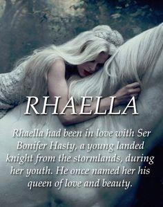 Rhaella Targaryen (Mother of Rhaegar, Viserys & Daenerys Targaryen, & the grandmother of Jon Snow)